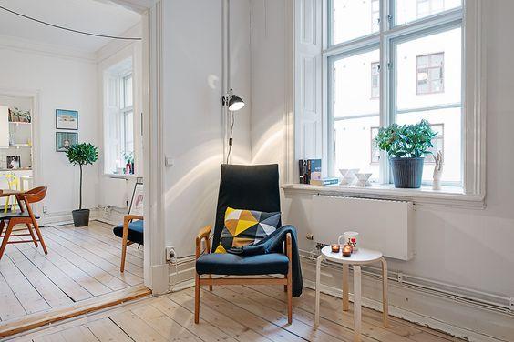 Nórdico, vintage y moderno; Un apartamento de 80m2 donde se mezclan estos 3 estilos de decoración.