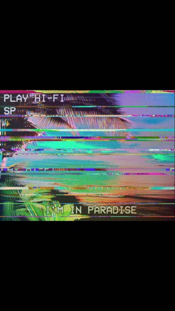 I'm in paradise ❈ Retro colourful text