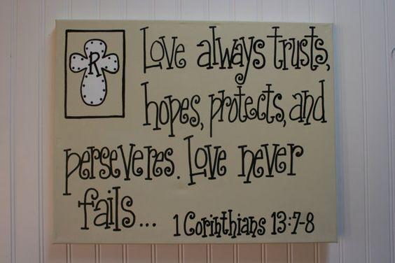 love never fails 16x20 wall art 1 corinthians 13 bible. Black Bedroom Furniture Sets. Home Design Ideas