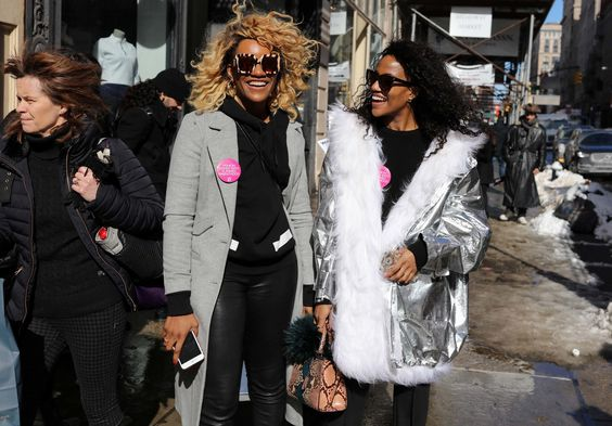 Danielle Prescod and Gabby Prescod NYFW Street Style... COORDINATING is the new COMPETING... The future is friendly  {sheisme}
