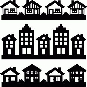 Clip Art Borders of Houses – Clipart Download