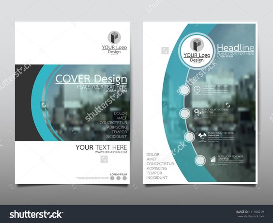 Blue Curve Technology Annual Report Brochure Flyer Design Template Vector, Leaflet Cover Presentation Abstract Flat Background, Layout In A4 Size - 411406219 : Shutterstock