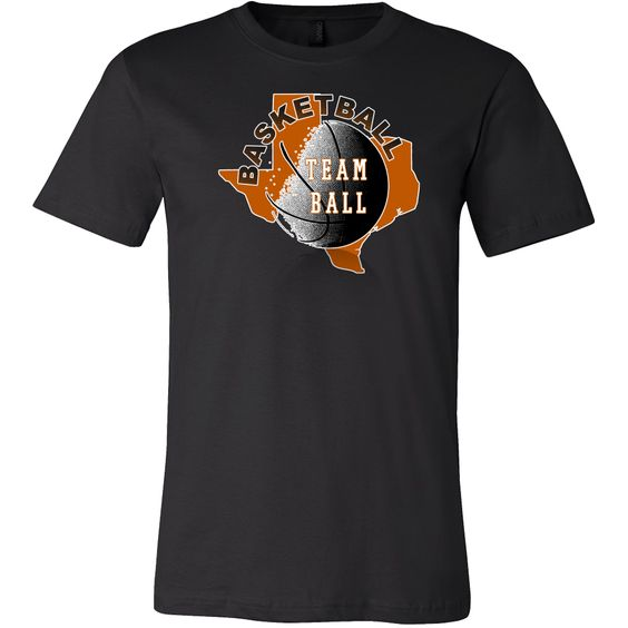 Texas Basketball Team Ball Men's T-shirt