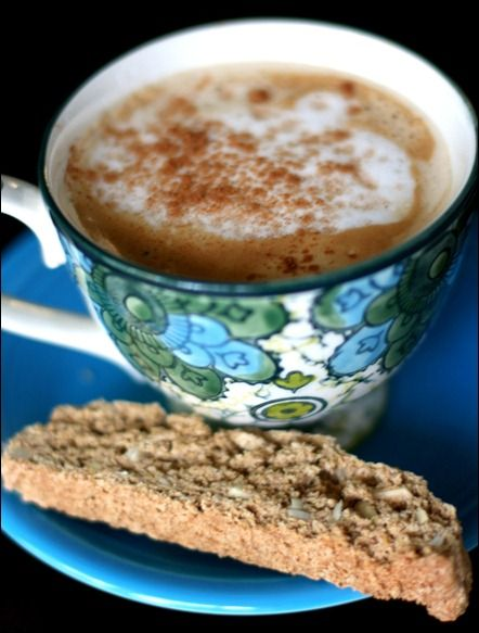 Vegan vanilla Almond Biscotti: Almond Biscotti, Healthy Vegan, Vegan Biscotti Recipe, Cinnamon Almonds, Cookie Recipes