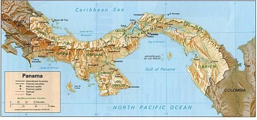 Panama rica topographic map world atlas fantasy maps panama rica topographic map world atlas fantasy maps pinterest topographic map and fantasy map gumiabroncs Images