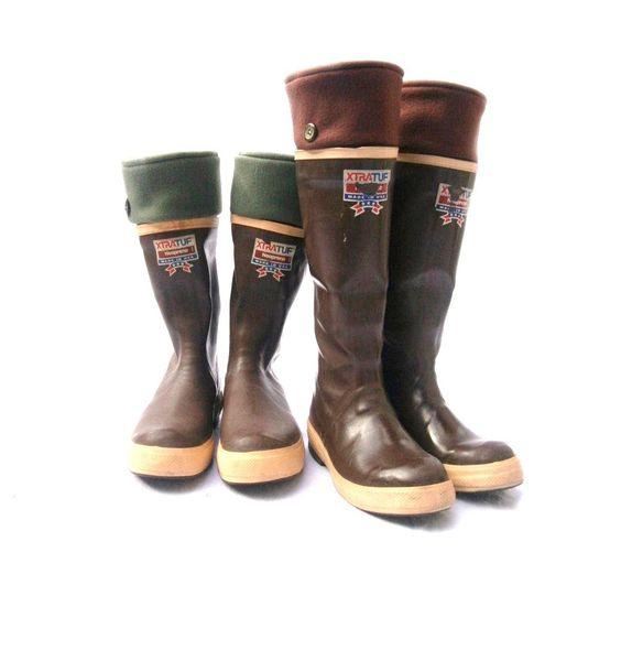 Mens fleece rain boot liners brown boot insert fall winter gift for