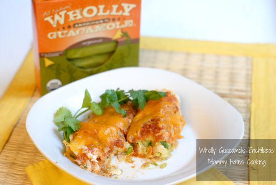 Guacamole Enchiladas, easy dish using Organic Wholly Guacamole!