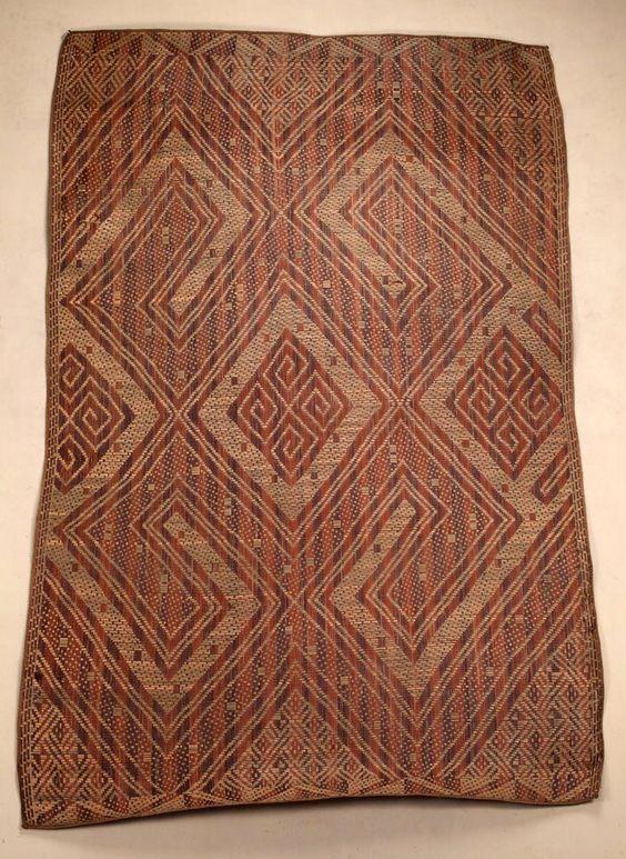 Africa | Mat from Belize, near Buco-Zau, Angola | Plant fiber and dye | ca. 1951