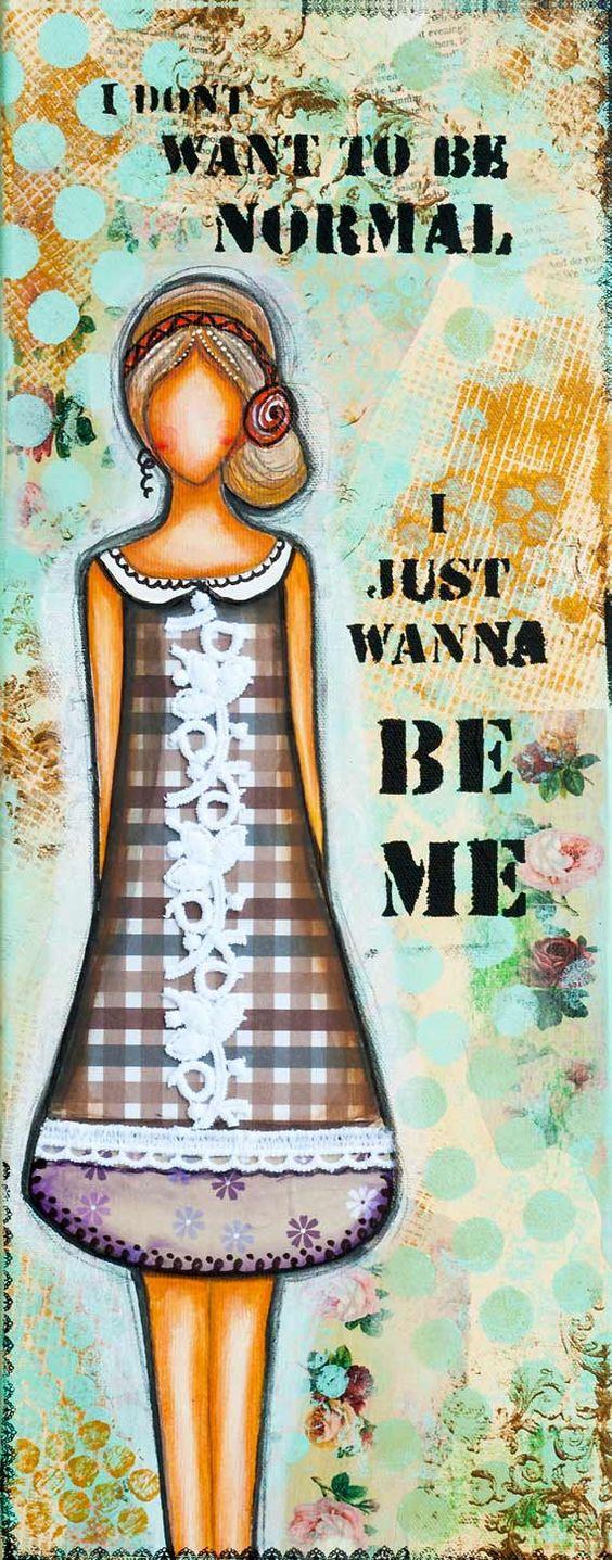 Inspirational Whimsical Art, Meaningful Mixed Media Fine