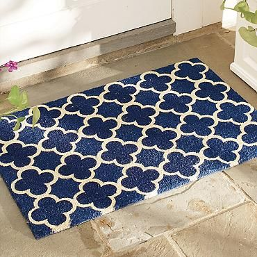 This cute Art Deco inspired door mat would look  great with a 1930s style Endurance door