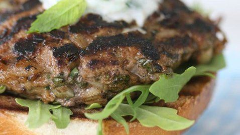 Lamb Burgers with Yoghurt and Mint Dip - RTE Food