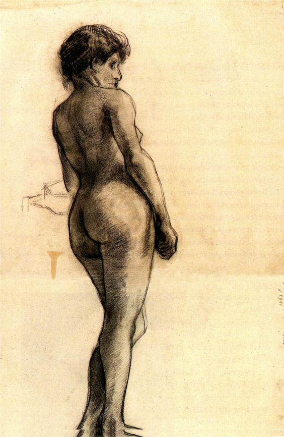 Vincent van Gogh, Standing Nude Seen from the Back, 1886:
