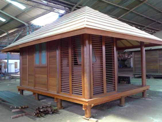 Japanese style garden sheds bamboo pinterest gardens for Japanese style garden buildings