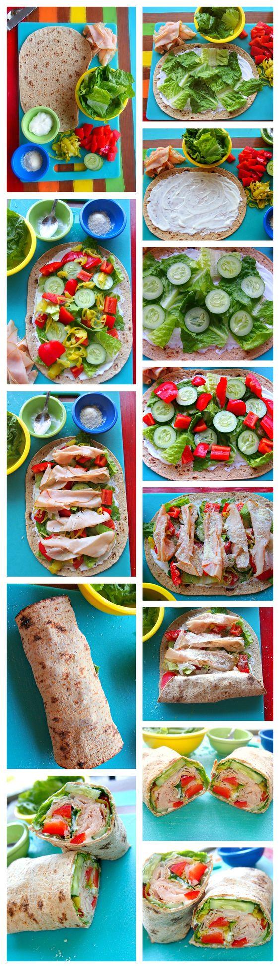 Vegetariana Turquia Enrole. / Vegetarian Turkey Wrap.