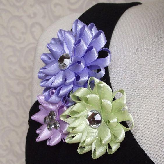 Satin Flower Brooch Pin by PetalPerceptions