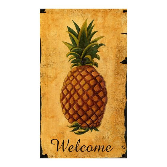 Pineapple 'Welcome' Wall decor.