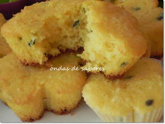 Ondas de Sabores: Muffins de Maracujá e Coco