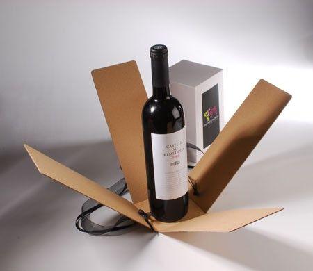 Caja para vinos con lazo y etiqueta impresa                              …
