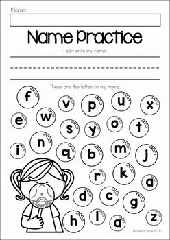 Printables Name Worksheets summer review preschool no prep worksheets activities name writing and identifying letters from my