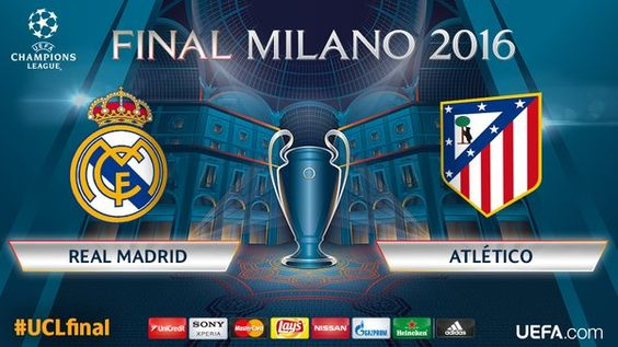Real Madrid vs Atlético de Madrid final Milano 2016 Champions League