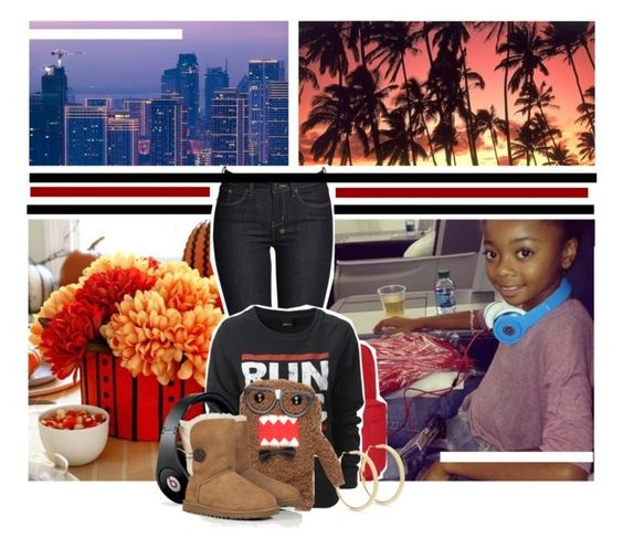 """Hai pineapples"" by skai-jackson-x0x ❤ liked on Polyvore featuring JanSport, Ksubi, Star by Julien Macdonald, Beats by Dr. Dre and UGG Australia"