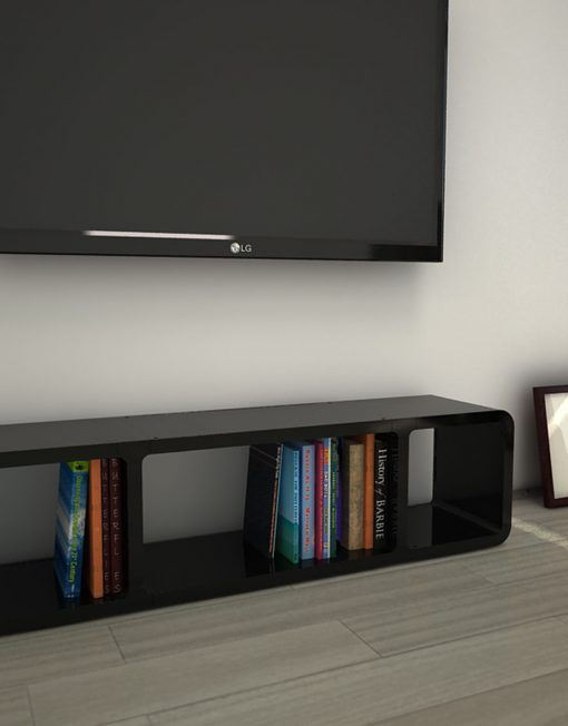 K2 Modular Staggered Shelving Expand Furniture Low Profile Tv Stand Simple Tv Stand Tv Stand Low height tv stand