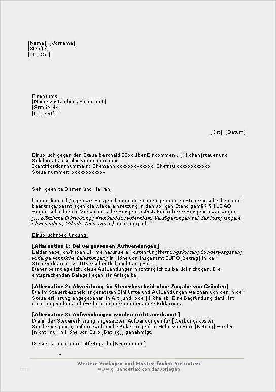 Einspruch Gegen Bussgeldbescheid Muster Word Und Pdf