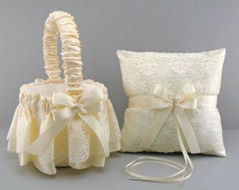 Coral de la boda de novia cesta de la muchacha de por evertonbridal