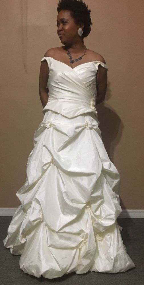 Justin Alexander Size 8 Wedding Gown Fashion Clothing Shoes