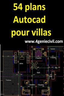 Exemples Et Plans De Villas Maisons En Dwg Cad Ana Mohandis