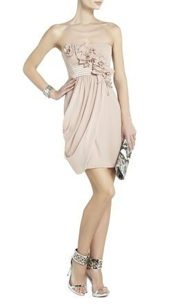 #BCBG EMILY STRAPLESS DRESS WITH ROSETTES... not too big of a fan of strapless but for this beauty, I'd have to sway ;)