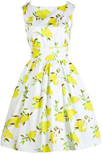 lemon printed spring wrap dress