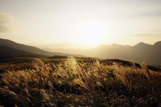 黄昏の曽爾高原