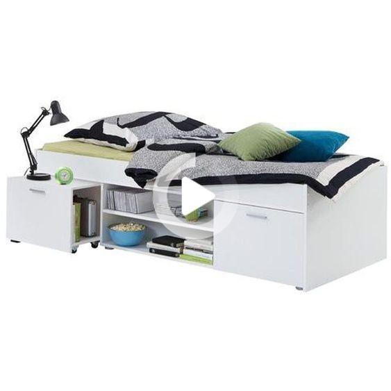 Futonbett Mit Stauraum 90 X 200 Cm In 2020 Betten Fur Kinder Bett Bett Ideen