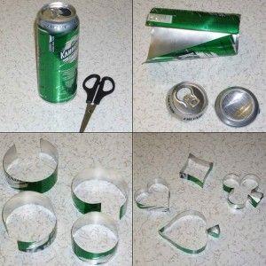 Como hacer moldes para galletas con latas de refrescos