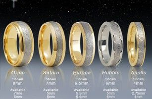 Meteorite Wedding Rings from Cross Jewelers. These are so wonderful