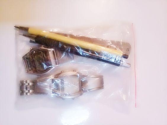 4.wrist watchs, rule,pencils