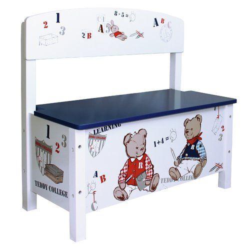Teddy College Toy Storage Bench Roba Toy Storage Bench Toy Storage Childrens Toy Storage