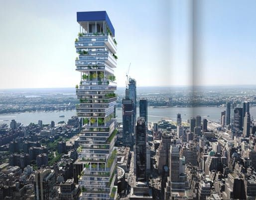 Images Surface Of Facebook S Potential New Tower In Manhattan Designed By Rafael Vinoly Supertall Skyscraper New York Midtown Manhattan