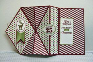 upright z fold card instructions