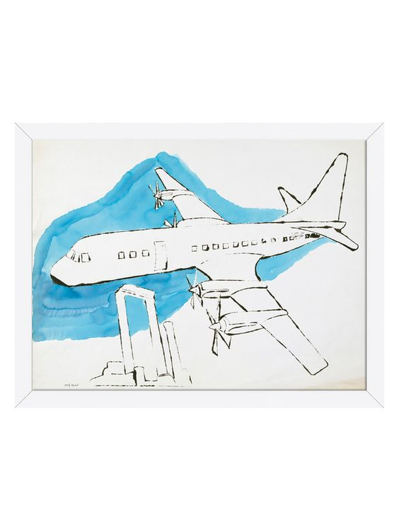 Airplane, c. 1959 by Andy Warhol (Framed) from Vibrant Art: Romero Britto, Andy Warhol & Keith Haring on Gilt