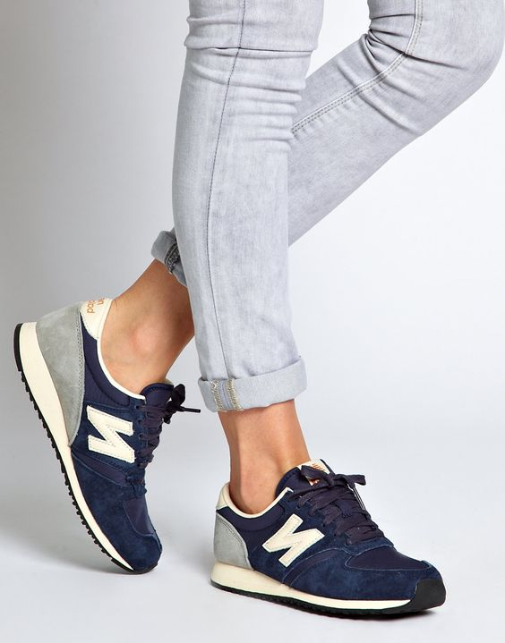 new balance 420 black and grey suede trainers asos