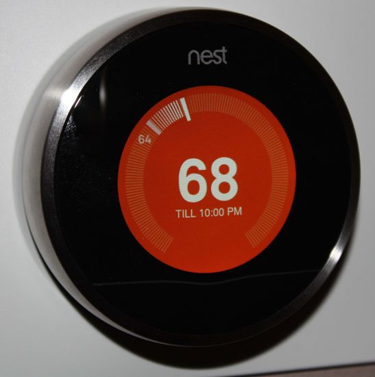 Technology radios and activities on pinterest - Nest thermostat stylish home temperature control ...