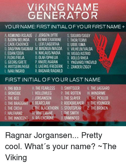 Viking Name Generator Viking Names Name Generator Vikings