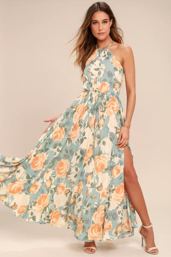 Pretty Peach Summer Dress