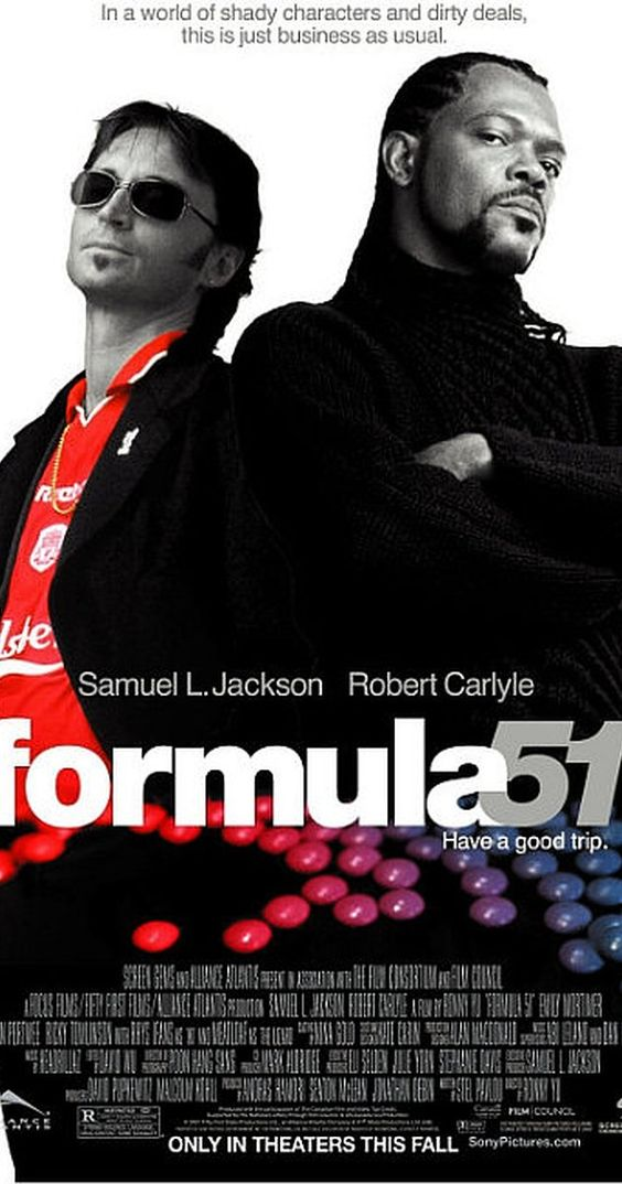 Directed by Ronny Yu.  With Samuel L. Jackson, Robert Carlyle, Emily Mortimer, Nigel Whitmey. An American master chemist plans to score big on a once in a lifetime drug deal. All does not go as planned and he is soon entangled in a web of deceit. This is a humorous adventure with very likeable, quirky characters! The bonus is Samuel in a kilt. He has great legs! I'm serious you have got to see...