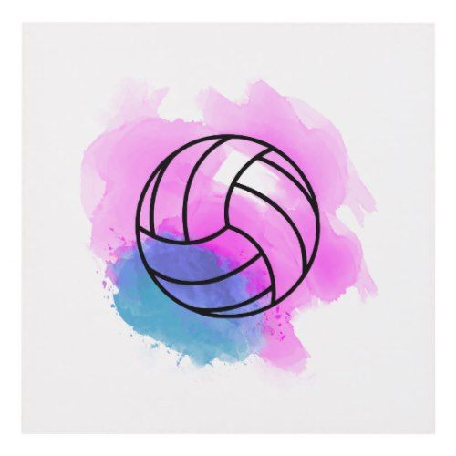 Volleyball Watercolor Panel Wall Art Zazzle Com Volleyball Drawing Volleyball Wallpaper Watercolor Canvas