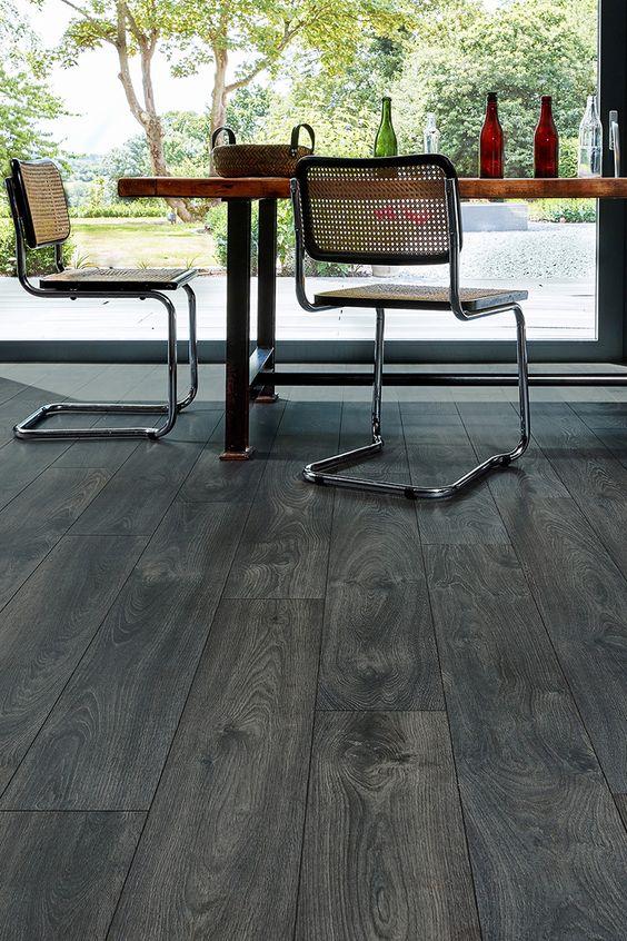 Dark Floors Have Genuine Wow Factor Series Woods 8mm Laminate Flooring Raven Oak Is Not On Conservatory Flooring Laminate Flooring Dark Grey Laminate Flooring