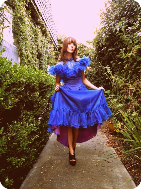 Let out your Alice with this twilight blue Wonderland Gown! Blueberryshoes.et...