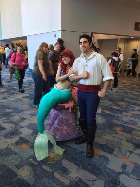 [self] Me as Prince Eric and an amazing Ariel I ran into at Wondercon.
